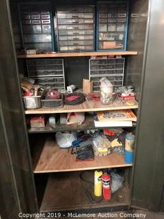 Contents of Cabinet of Hardware and Tools