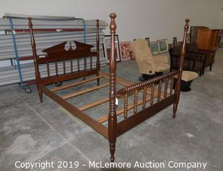 Solid Wood Spindle Poster Double Bed