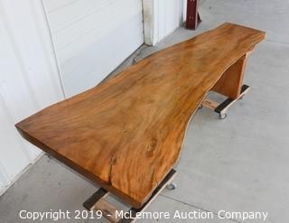 Solid Wood Live Oak Edge Conference/Dining Room Table