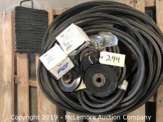 Belts, Pulleys, and Wheel Chock - Late Addition