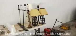 Assortment of Lamps and Lighting Accessories
