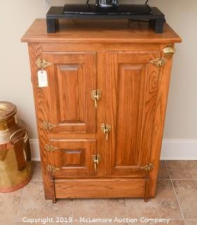 Solid Wood Ice Chest Style Cabinet
