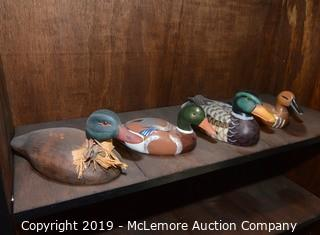 Assortment of Duck Decoy Statues