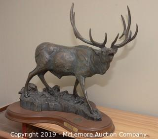 "National Wild Turkey Federation ""Sounds of Autumn"" Bronze Elk Statue"