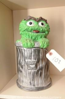 Oscar the Grouch Cookie Jar