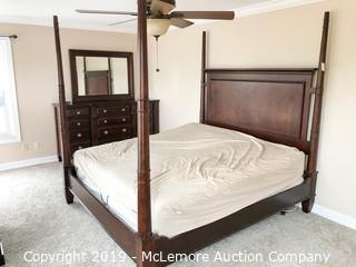 King Size Bed Frame with Headboard, Footboard and Rails