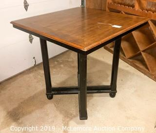 Pub Height Wooden Table