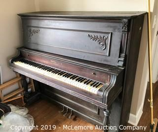 Harvard Piano Company Antique Upright Piano