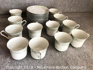 24 Piece China Cup and Saucer Set