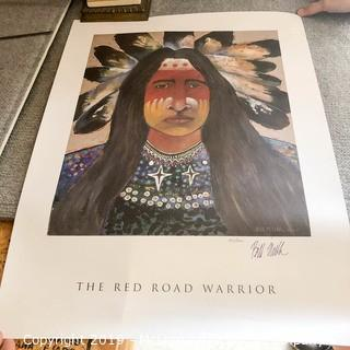 Red Road Warrior Limited Edition Print 100/1000 by Bill Miller