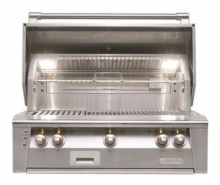 "Alfresco 36"" Luxury Stainless Outdoor Built In Gas Grill"