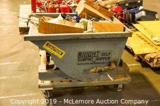 Industrial Dump Cart with Contents