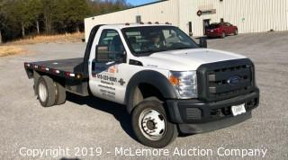 2012 Ford F550 4WD Super Duty 6.7L Powerstroke Diesel Flatbed Truck