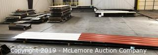 Large Assortment of Finished Roofing Panels in Assorted Colors and Lengths