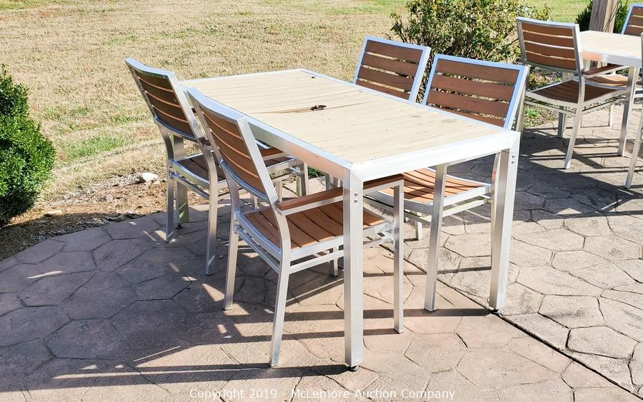 Mclemore Auction Company Auction Furniture And Equipment From Fontanel Nashville The Inn At Fontanel And Cafe Fontanella Item Metal Cafe Patio Furniture