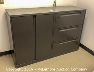 Dual Purpose Metal Filing Cabinet