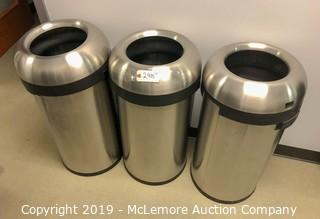 Stainless Garbage Canisters