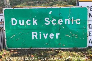 Large 6' x 3' Duck River Interstate Sign