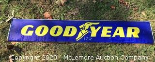 Vintage Goodyear Tires Double-Sided Porcelain Sign