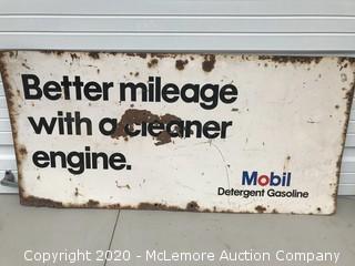 Vintage Mobile Gasoline Sign