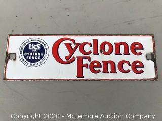 Small Cyclone Fence Porcelain Sign