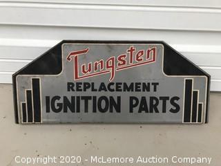 Vintage Tungsten Ignition Parts Sign