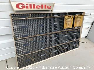 1960s Gillette Razors Store Display