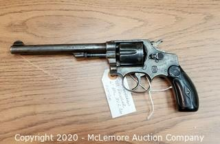 "Antique Smith & Wesson D&A 6"" Revolver"