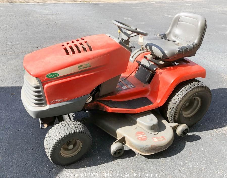 Mclemore Auction Company Auction Lighting Building Materials Appliances Electronics Tools Art Lawn And Garden Furniture Glassware Rugs And Collectibles From A Warehouse In Hermitage Item Scotts S2046 Riding Lawn Mower By