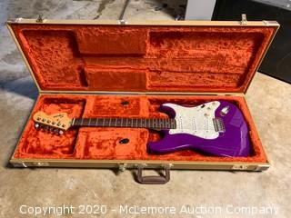 Fender Squire Strat Guitar and Case