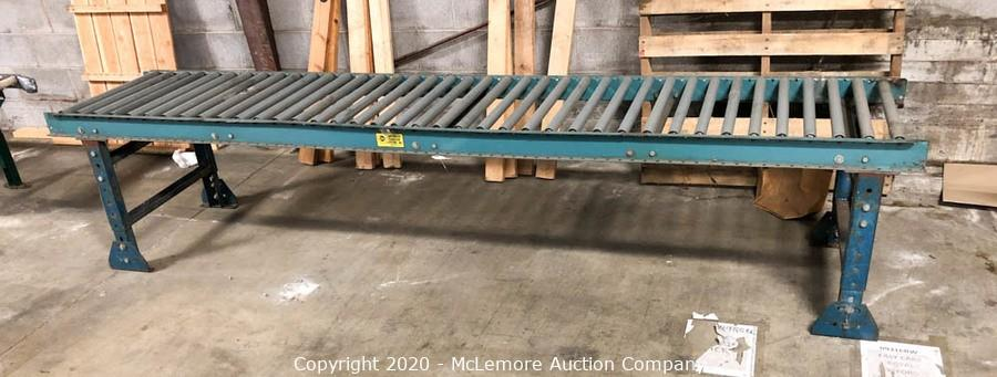 Mclemore Auction Company Auction Downsizing Sale Of Forklifts Vending Machines Cardboard Compactor Roller Conveyors Server Rack And Speakers From Seale Keyworks Item Automated Conveyor Systems Inc Gravity Conveyor Roller Stand 10