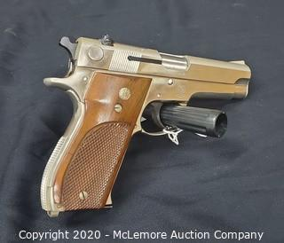 Smith & Wesson Model 39 Nickel Centerfire Pistol