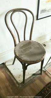 ca.1820's Solid Wood Bent Wood Chair
