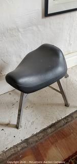 Vintage German Made Loewenstein Inc. Three Leg Stool
