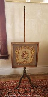 Antique Queen Ann Style Fireplace Screen