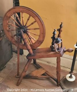 Small Antique Spinning Wheel