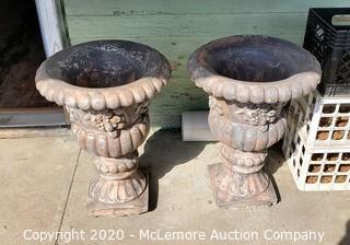(x2) Large Concrete Garden Urns