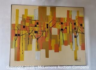 Framed Acrylic on Canvas Signed Piece
