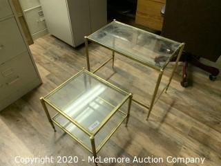 2 Glass Tables
