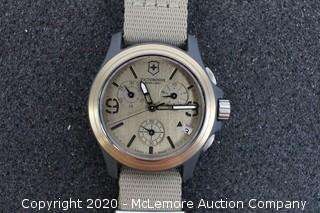Victorinox Swiss Army 241533 Original Chronograph Beige Nylon Strap Men's Quartz Watch