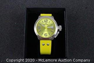 TW STEEL Canteen Yellow Dial Yellow Silicone Men's Watch