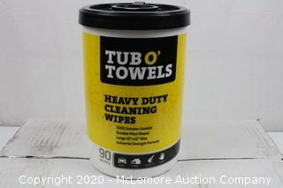 Tub O Towels Heavy-Duty Multi-Surface Cleaning Wipes, Citrus, 10 X 12 Inch (Case of 6)