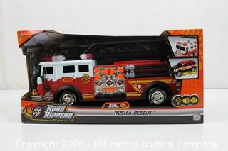 """Toystate Toy State 14"""" Rush And Rescue Police And Fire - Hook And Ladder Fire Truck"""