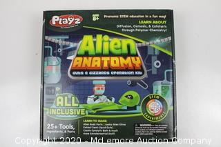 Playz Alien Anatomy Guts & Gizzards Operation Science Kit - 25+ Tools to Make Alien Body Parts & Slime, Extract Yucky Guts, & Create Catalytic Bath for Boys, Girls, Teenagers, & Kids