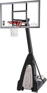 "Spalding NBA 60"" Glass Portable Basketball Hoop"