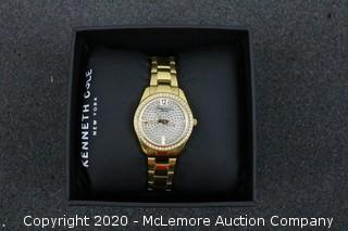 Kenneth Cole Classic KC4979 Women Dress Watch Gold Tone