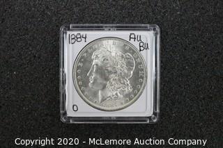 Morgan Silver Dollar 1884-O AU/BU Graded