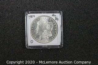 Morgan Silver Dollar 1904-O AU/BU Graded