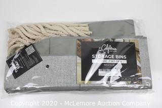California Home Goods Storage Bins, Fabric Set of 4
