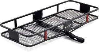 Hitch Cargo Carrier 60 x 24 by Vault - Haul Your Gear with This Rugged Steel Constructed Hitch Storage Rack for Your Truck or SUV